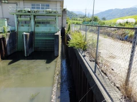 大同排水機場・沈砂池