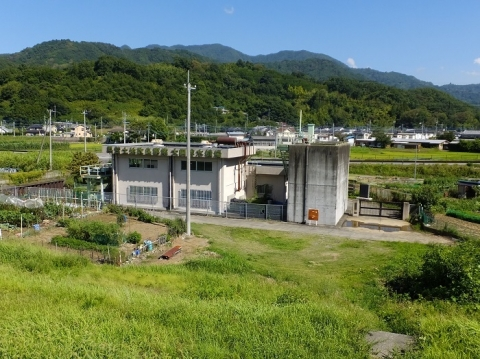 山梨県市川三郷町・大同排水機場