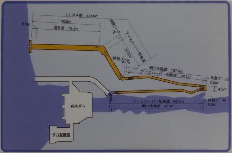 白丸ダム魚道平面図