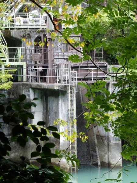 白丸発電所取水口