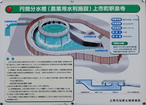 上市町釈泉寺円筒分水槽案内板
