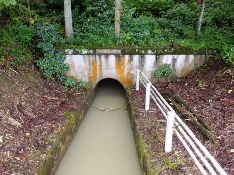 南砺山麓用水補給事業用水路