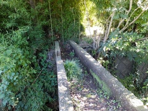 小松川に架かる原宿用水水路橋