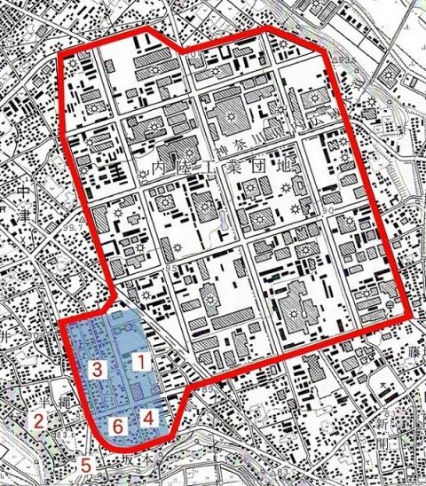 愛川町の近代遺産位置図