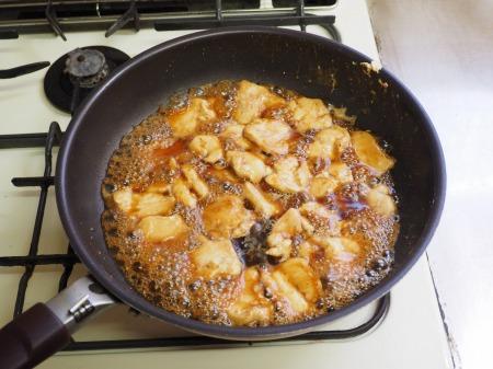 鶏むね肉の照焼き丼052
