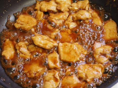 鶏むね肉の照焼き丼054