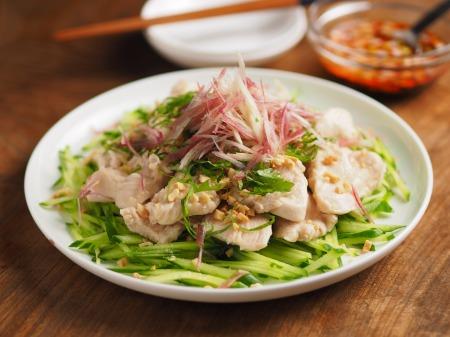 鶏むね肉の水晶鶏ピリ辛ドレ002