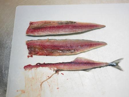 塩サンマ梅肉大葉巻き焼き028