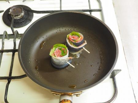 塩サンマ梅肉大葉巻き焼き038