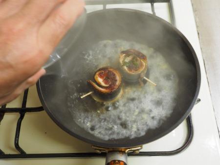 塩サンマ梅肉大葉巻き焼き041