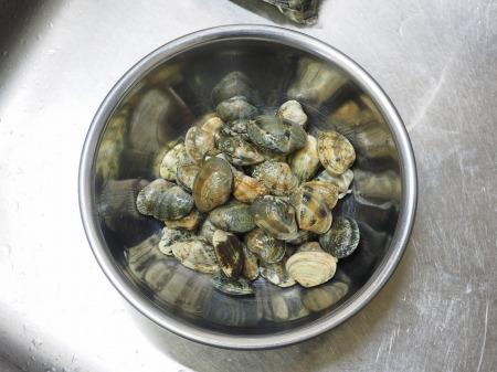 鮭とあさりのフライパン酒蒸し040