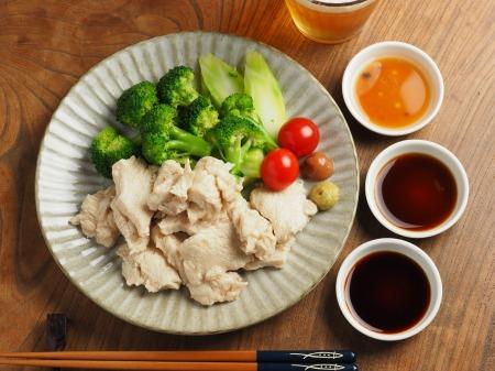 鶏むね肉の水晶鶏043