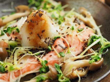 秋鮭とキノコのフライパン酒蒸032