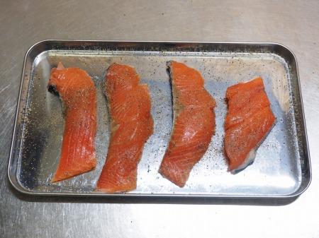 秋鮭のチーズ焼き023