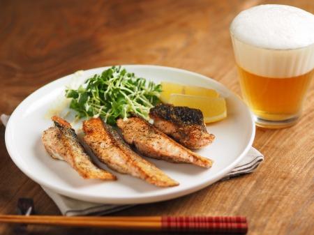 秋鮭のチーズ焼き009
