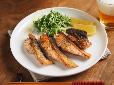 秋鮭のチーズ焼き002