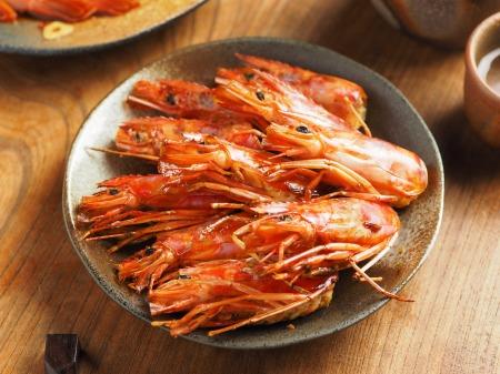赤えび漬け刺身、漬け焼き027