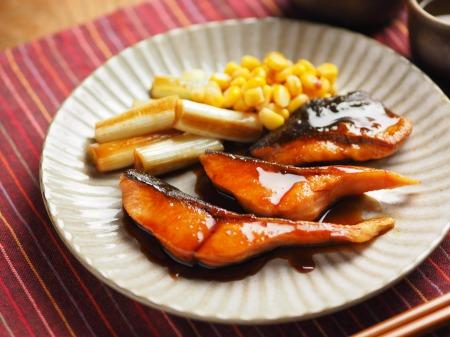 秋鮭のバター照り焼き019
