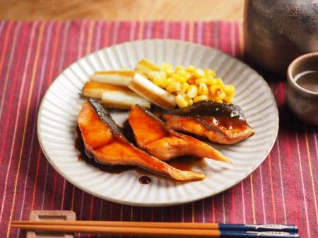 秋鮭のバター照り焼き002