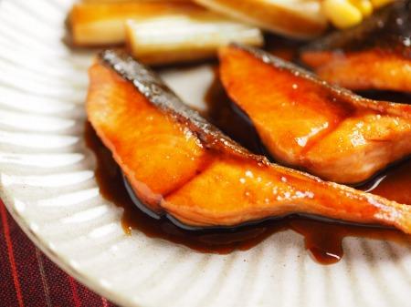 秋鮭のバター照り焼き021