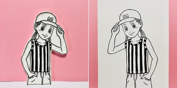 まりのボーイッシュ・ファッション 版画と原版