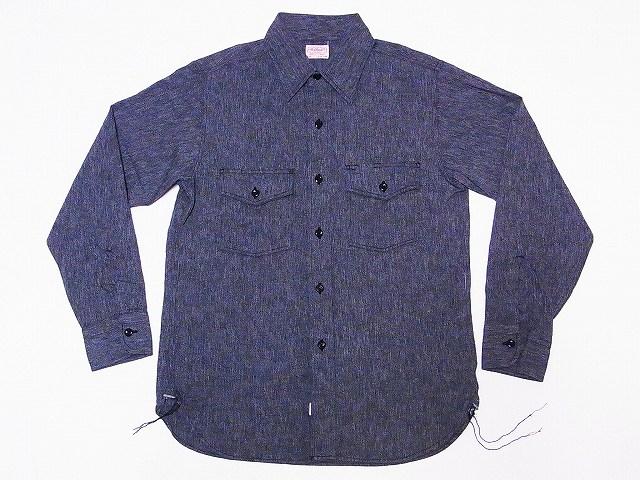 ヘッドライト 杢シャンブレー 長袖ワークシャツ HD28007