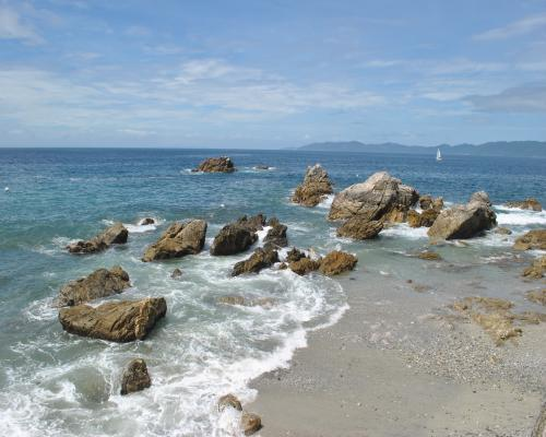 西海岸の風景