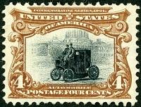 世界で最初の自動車切手