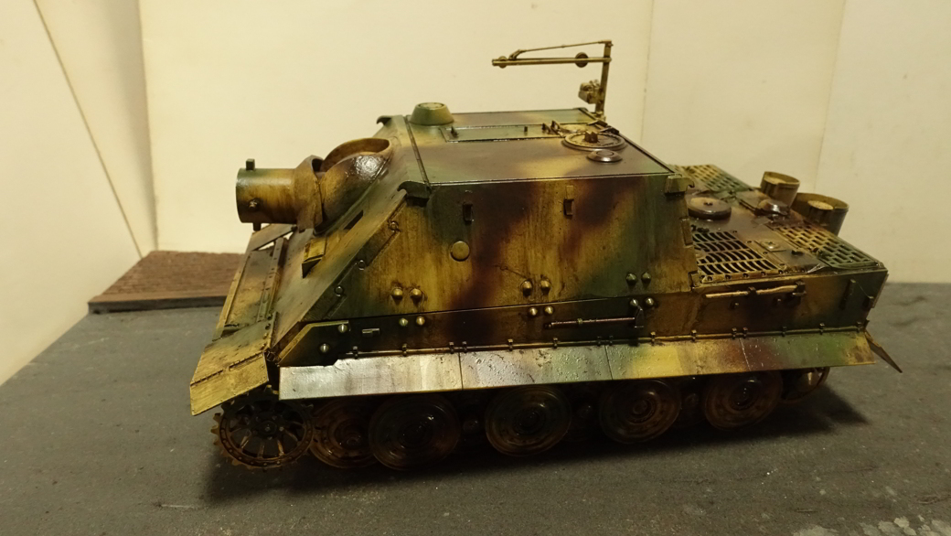 タミヤのミリタリーミニチュアシリーズ  No177 ドイツ軍 38cm臼砲 シュトルムティーガー その1