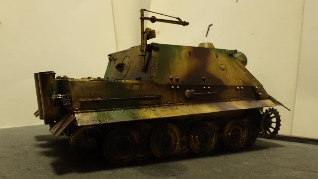 タミヤのミリタリーミニチュアシリーズ  No177 ドイツ軍 38cm臼砲 シュトルムティーガー その2