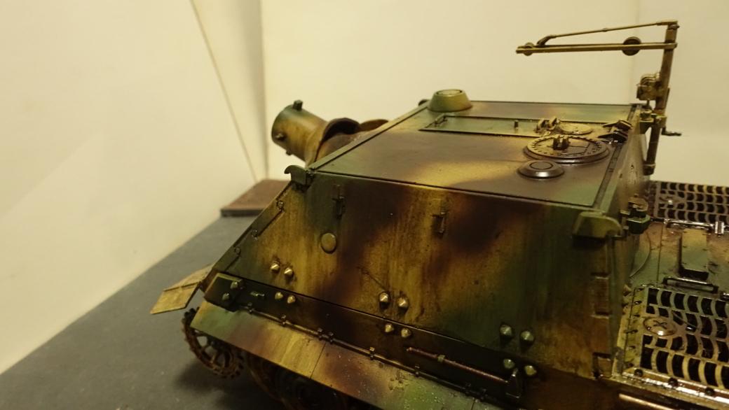 タミヤのミリタリーミニチュアシリーズ  No177 ドイツ軍 38cm臼砲 シュトルムティーガー その3