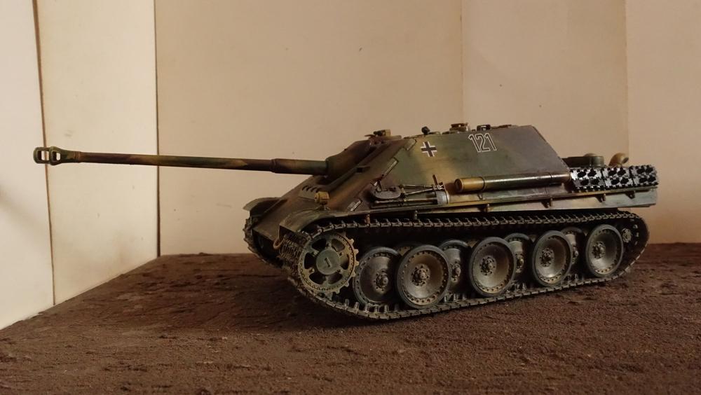 タミヤのミリタリーミニチュアシリーズ  No.203 ドイツ駆逐戦車 ヤークトパンサー 後期型のプラモの写真