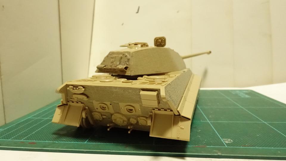 タミヤのミリタリーミニチュアシリーズ  No.169 ドイツ 重戦車キングタイガー(ポルシェ砲塔) その4