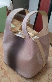 紋紗で作ったバッグ18-09-01