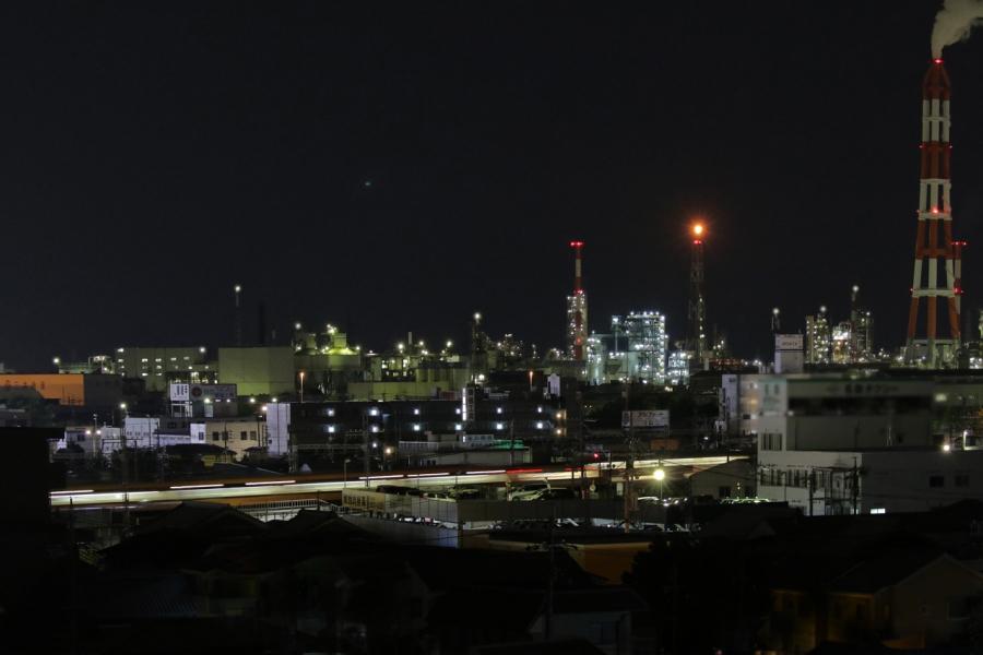 2018-8-夜景と近鉄電車T84A7853