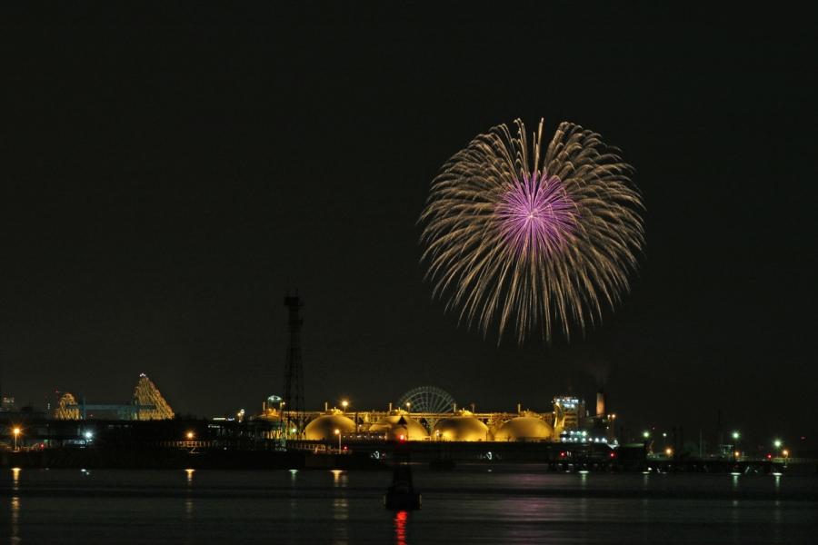 2018-8-25四日市コンビナート夜景と長島花火T84A9438