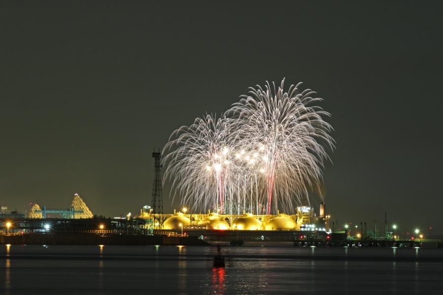 2018-8-25四日市コンビナート夜景と長島花火T84A9439
