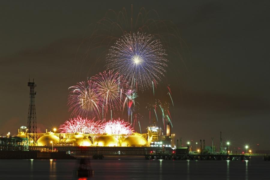 2018-8-25四日市コンビナート夜景と長島花火T84A9465