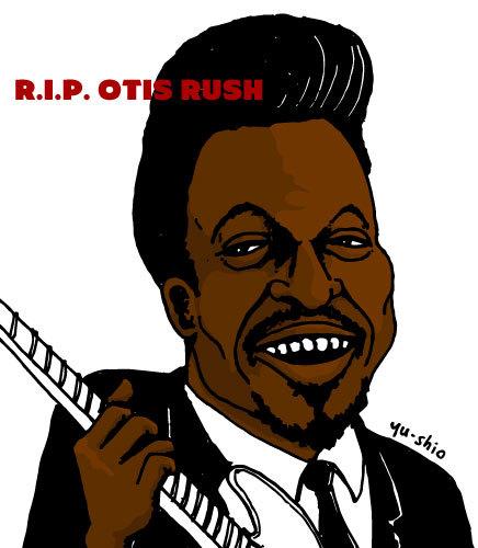 Otis Rush caricature likeness