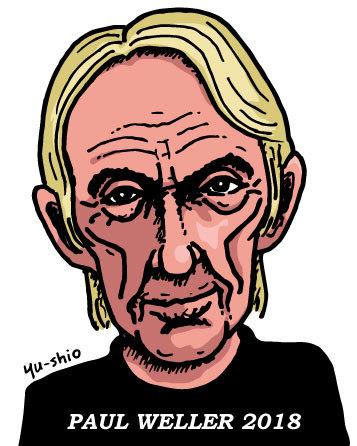 Paul Weller caricature likeness