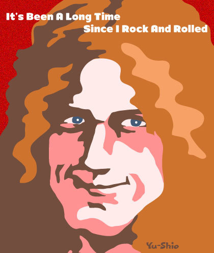 Robert Plant Led Zeppelin caricature likeness