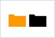 フォルダ(folder)のフリー素材テンプレート・図形・イラスト