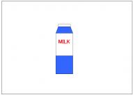 牛乳パックのフリー素材テンプレート・図形・イラスト