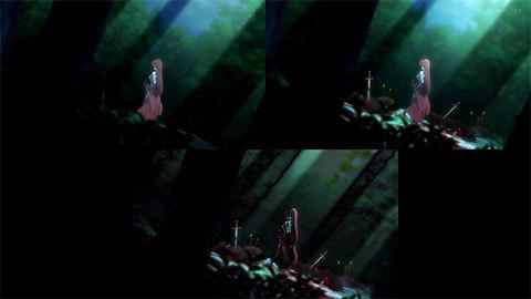 【異世界魔王と召喚少女の奴隷魔術】OP比較[第08話・第09話]01