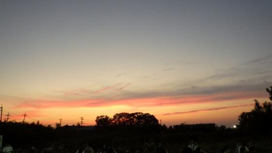 2018年8月1日 PL花火芸術打ち上げ場所近くにて撮影