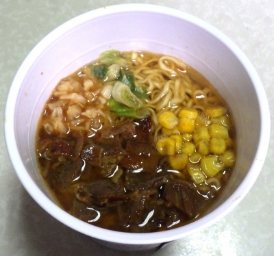 10/1発売 Japanese Soba Noodles 蔦 味噌の陣 味噌Soba(できあがり)