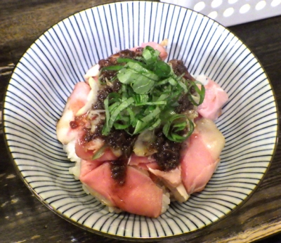 綿麺 燻製豚ハム丼 ミニ(2018年9月)