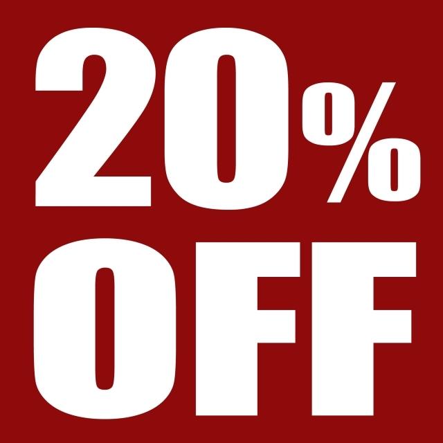 20パーセントOFF H&M 限定セール