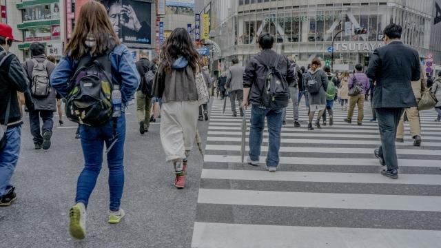 渋谷 スクランブル交差点 タウンユース おしゃれ