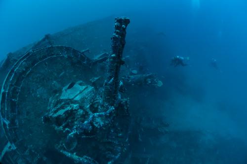 古宇利島の沈船 USS-Emmons